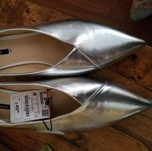 ZARA silver heels size 40